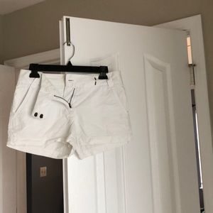 J. Crew white chino shorts size 2